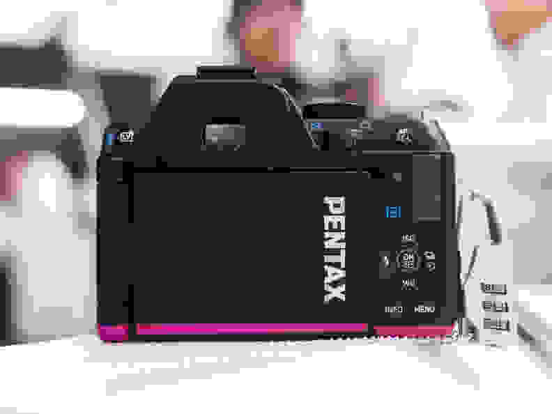 The K-S2's prominent Pentax branding is a big change of tack following the K-3.