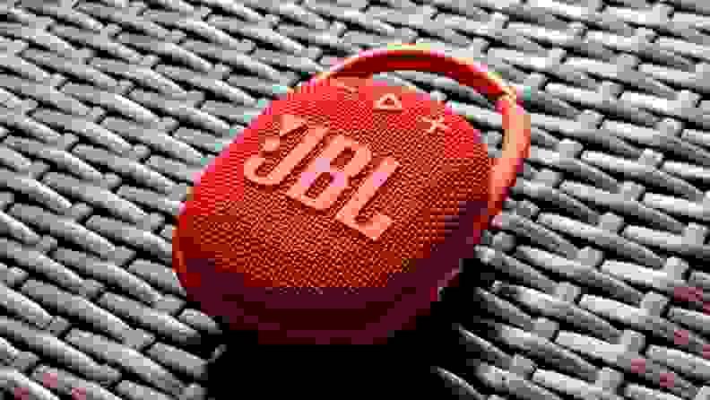 JBL Clip 4 on latticed bar top