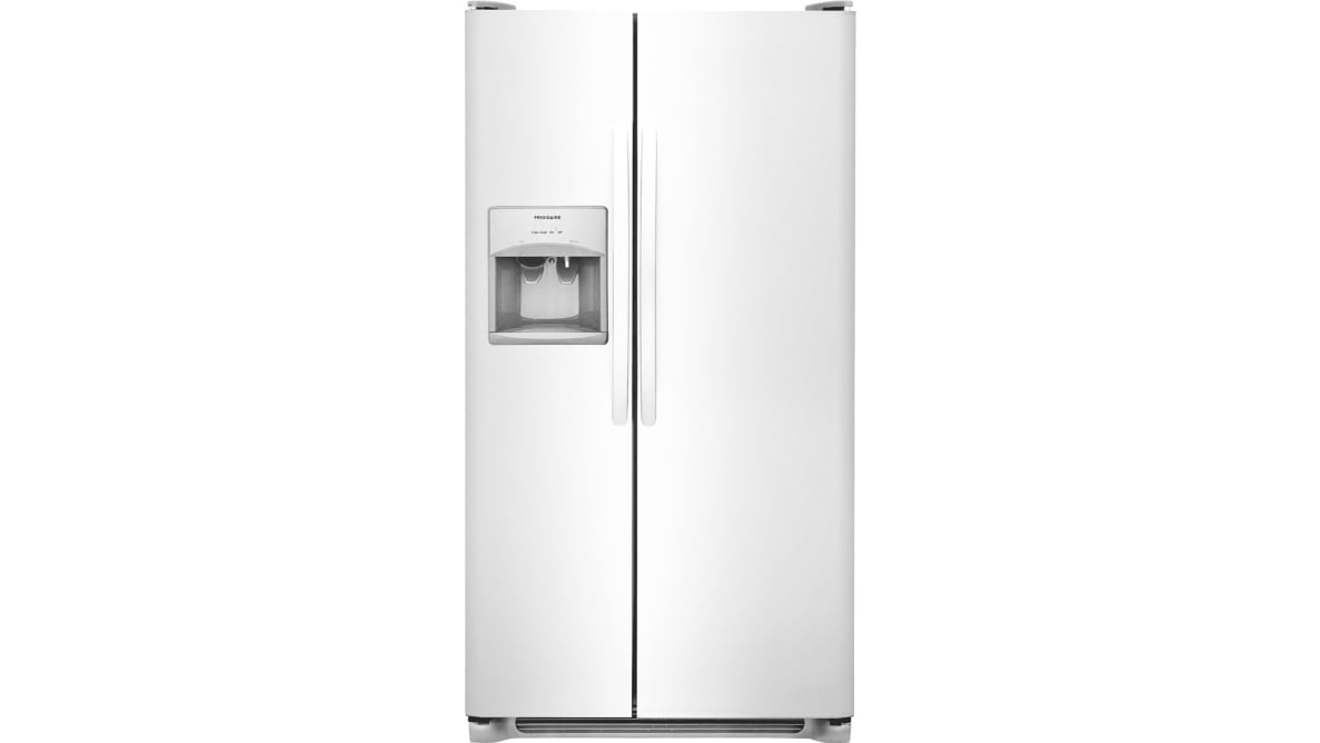 The Frigidaire FFSS2615TS side-by-side refrigerator