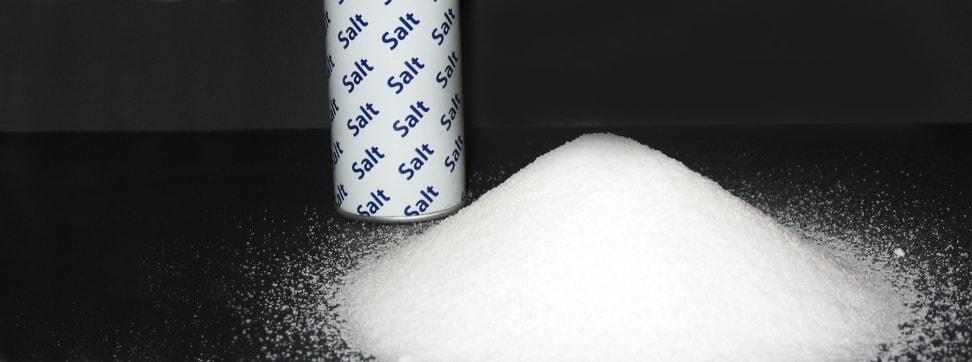 A pile of salt.