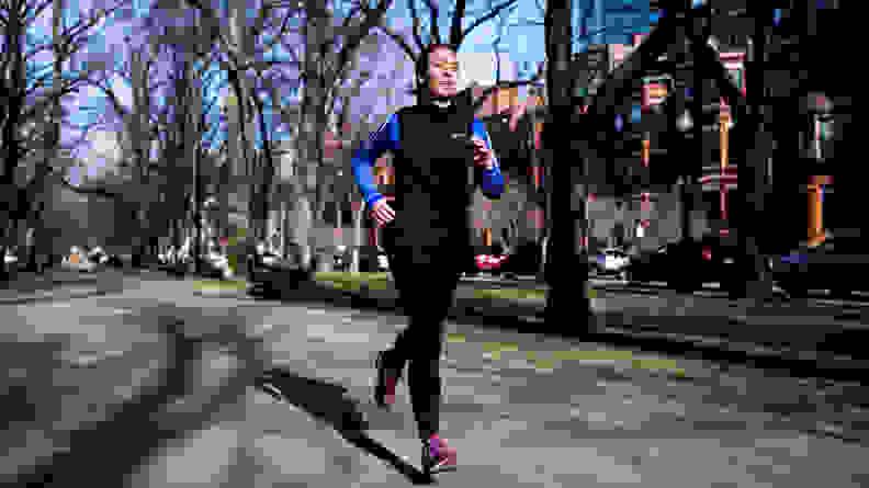 Runner wearing Nike vest