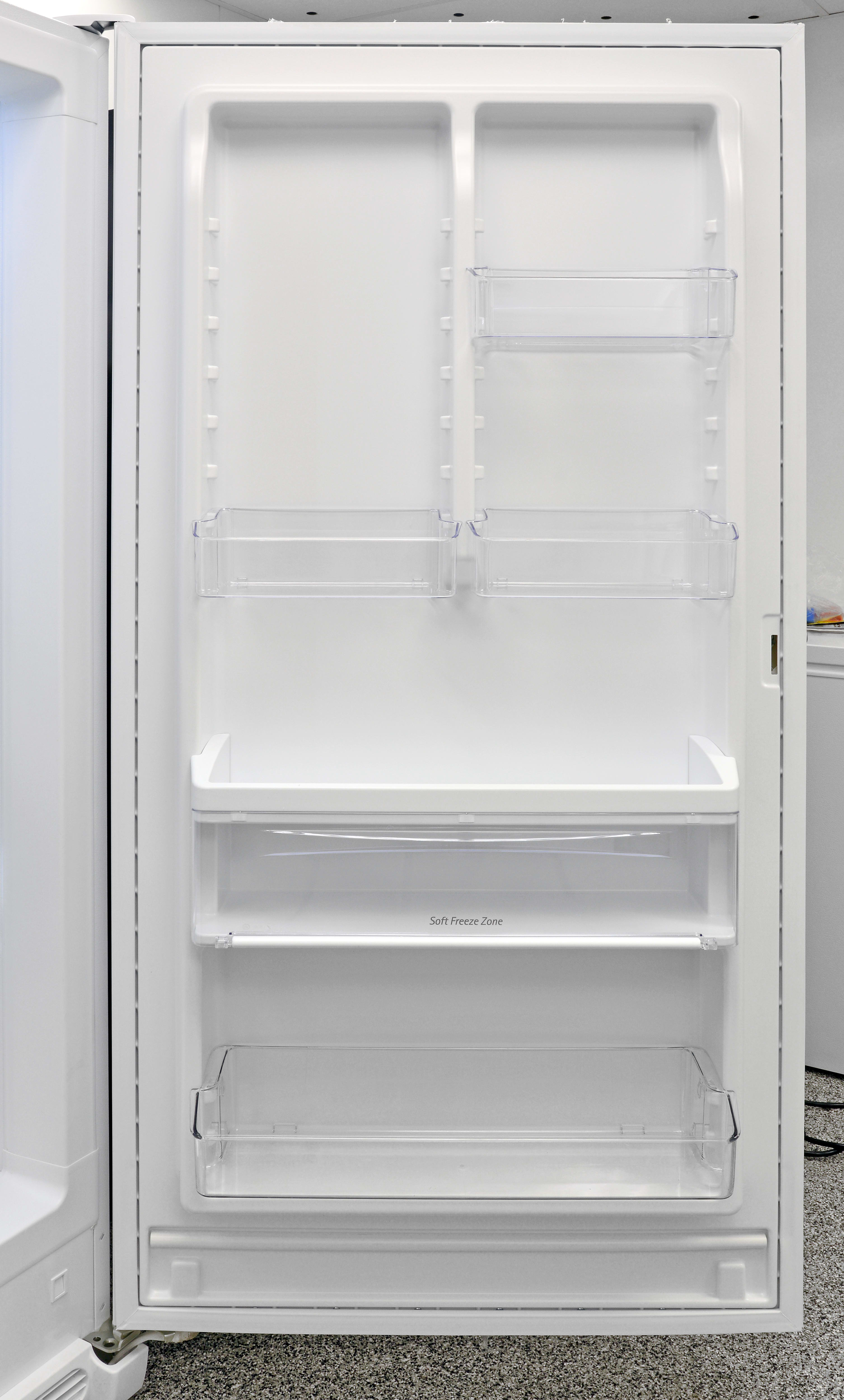 Adjustable door storage and a Soft Freeze Zone make the Frigidaire FFFH21F6QW an unusually versatile upright.