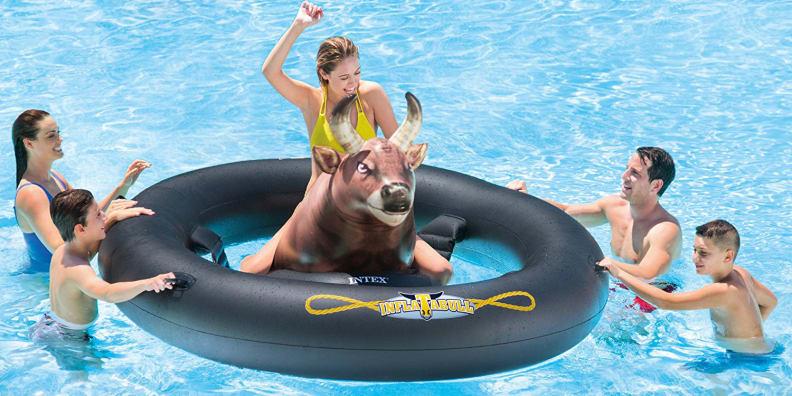 Inflat-a-Bull Pool Float