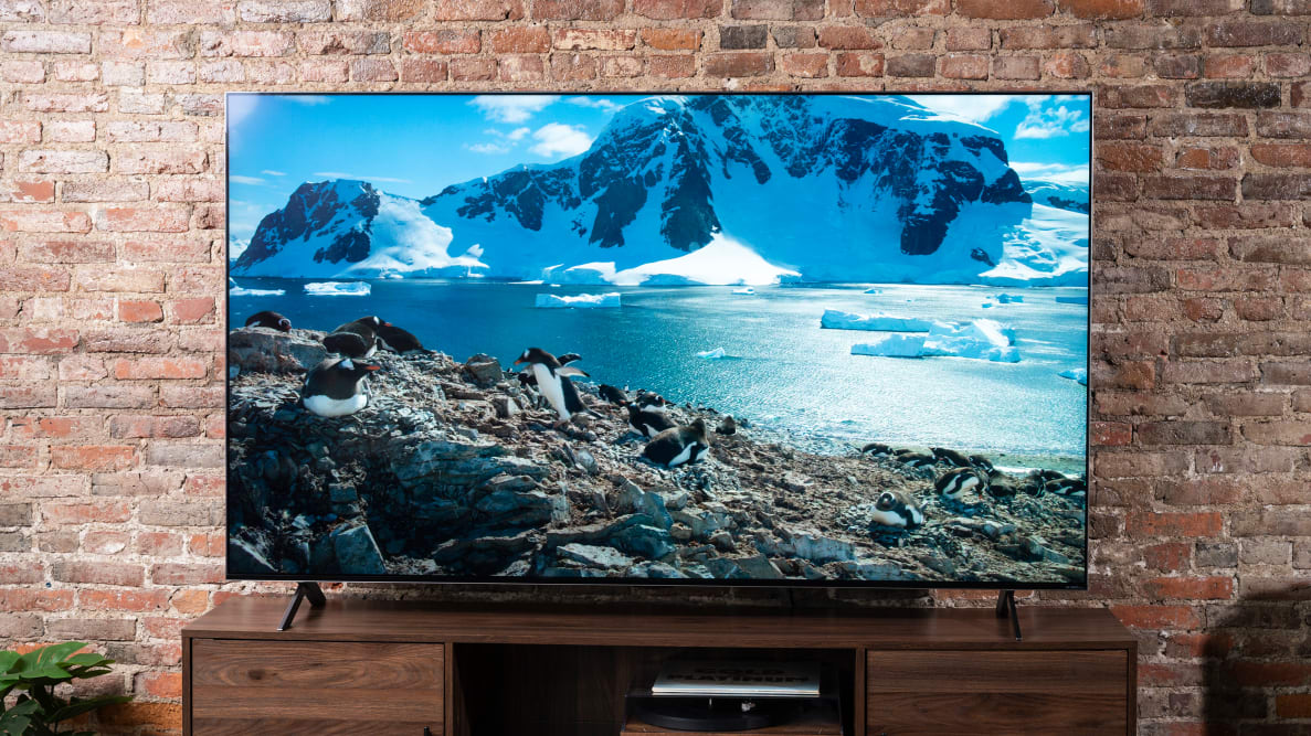 The LG QNED99 8K TV displaying 4K/HDR content in a living room setting