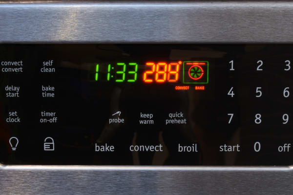 The Frigidaire FGIF3061NF's oven controls.