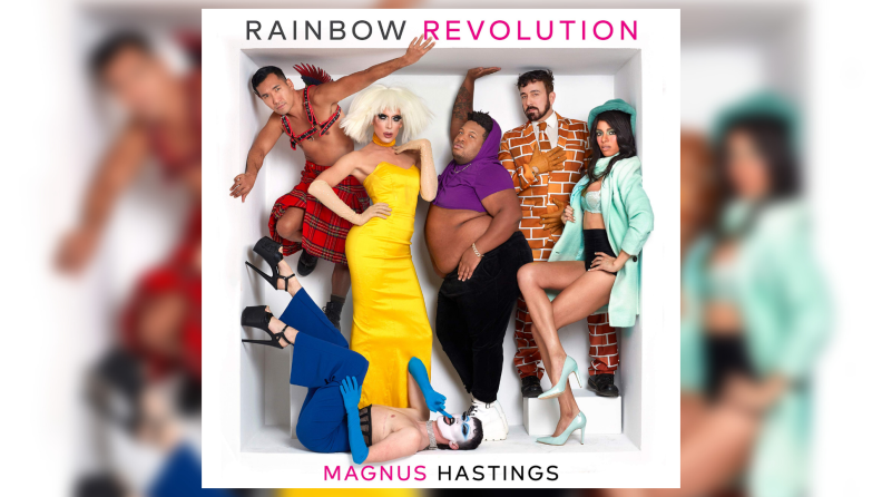 The cover art to Magnus Hasting's Rainbow Revolution photography book.